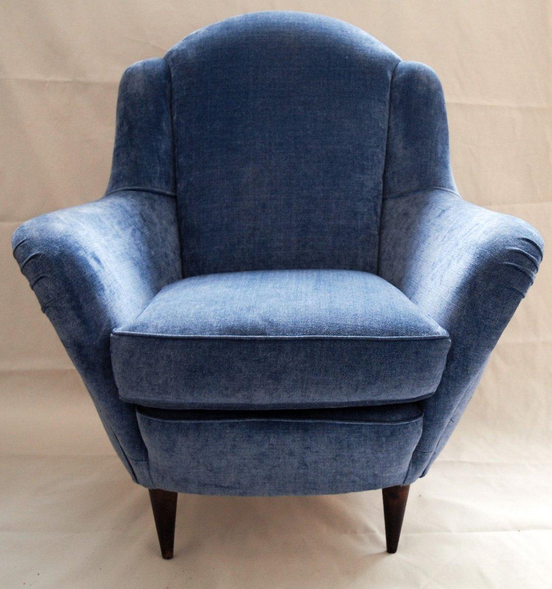 sessel aus hellblauem samt 1950er 2er set bei pamono kaufen. Black Bedroom Furniture Sets. Home Design Ideas