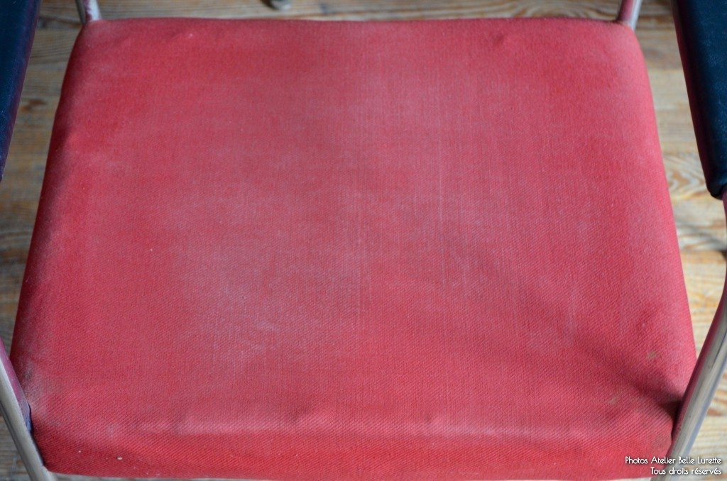 Red Upholstered Chair From Stoll Giroflex 1970s For Sale