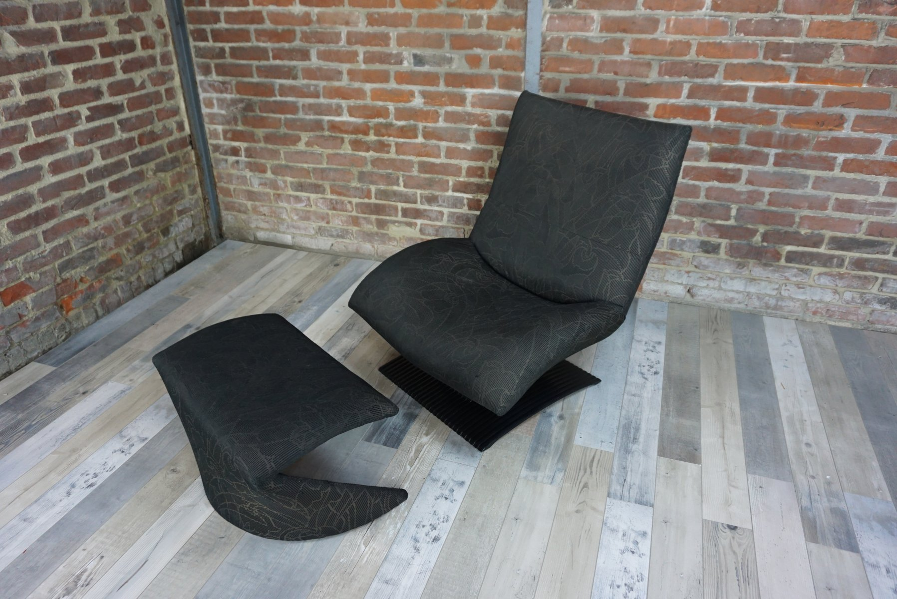 Vintage The Wave Lounge Chair Amp Ottoman By Peter Van Der
