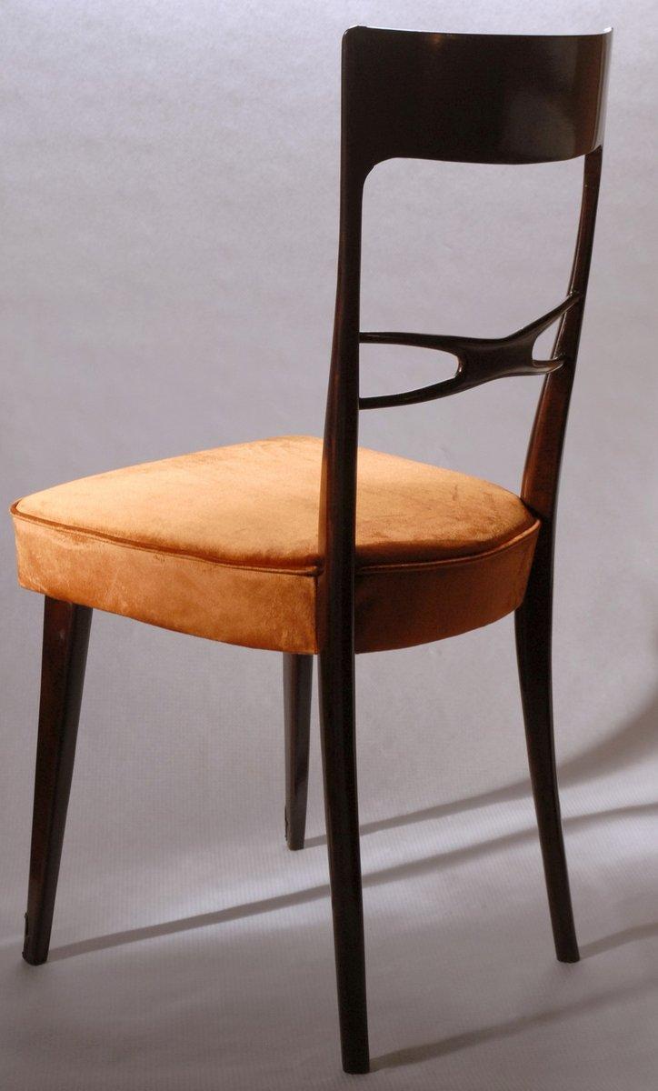 Sedie da pranzo scultoree in velluto anni 39 50 set di 6 for Sedie design velluto