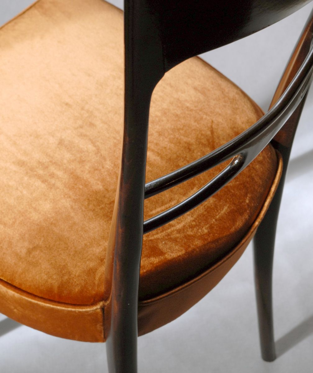 Sedie da pranzo scultoree in velluto anni 39 50 set di 6 for Sedie da pranzo economiche