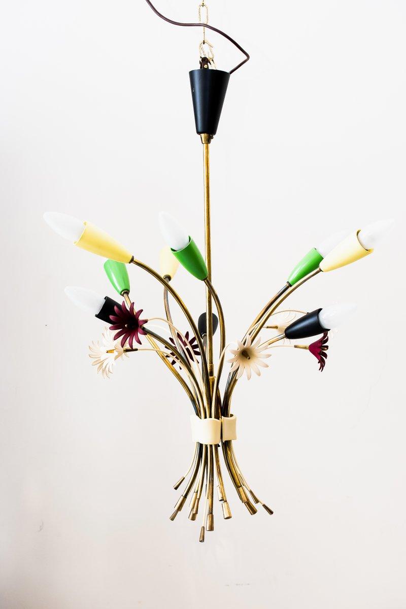 Floraler Kronleuchter, 1960er