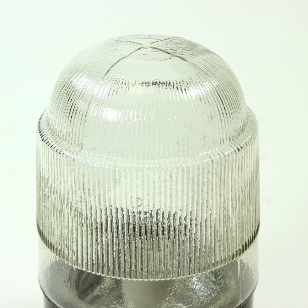 industrielle tschechoslowakische deckenlampe aus bakelit massivem glas von elektrosvit 1950er. Black Bedroom Furniture Sets. Home Design Ideas