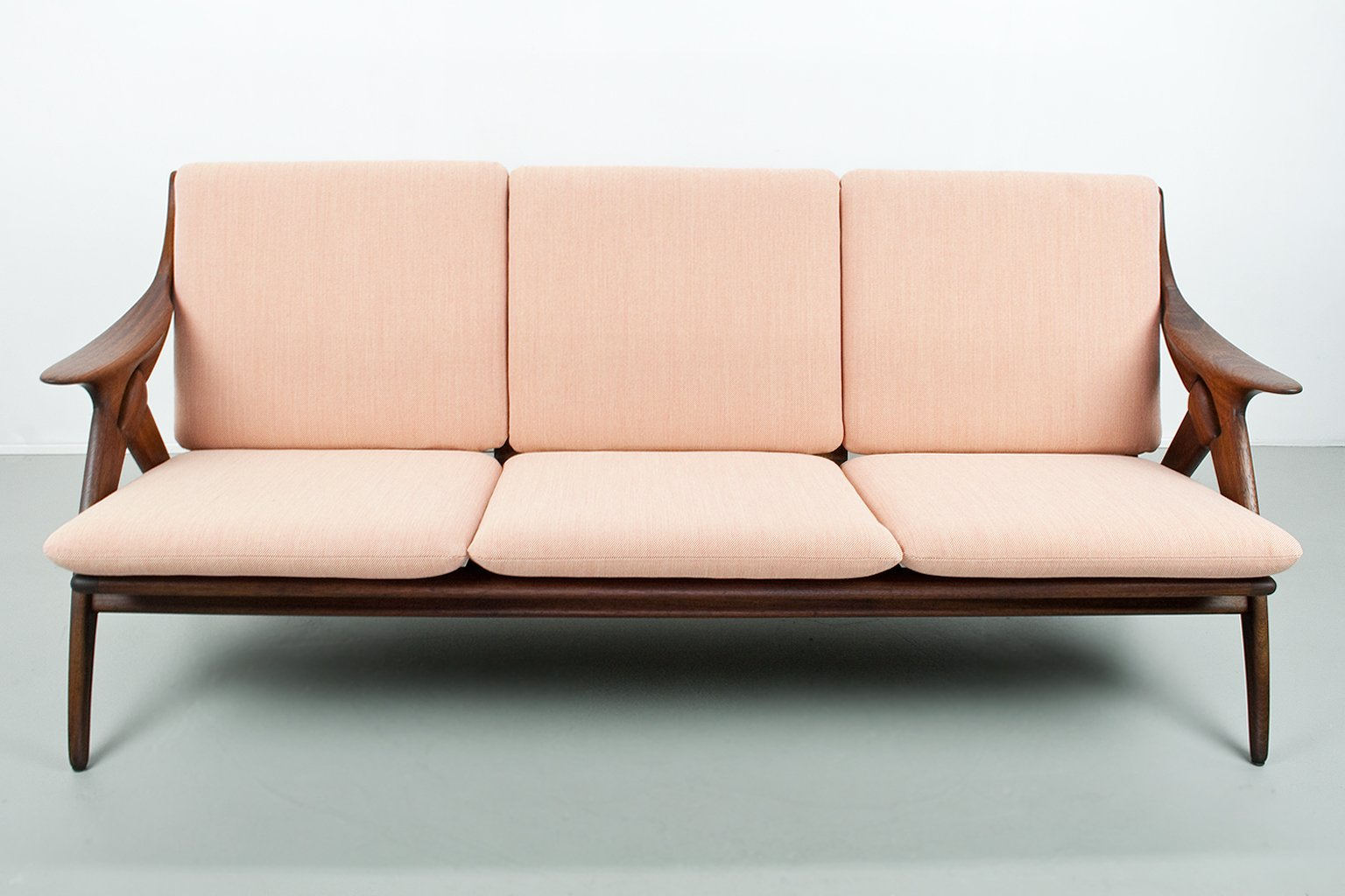 Gentil Dutch Mid Century Sofa In Teak From De Ster Gelderland, 1960s