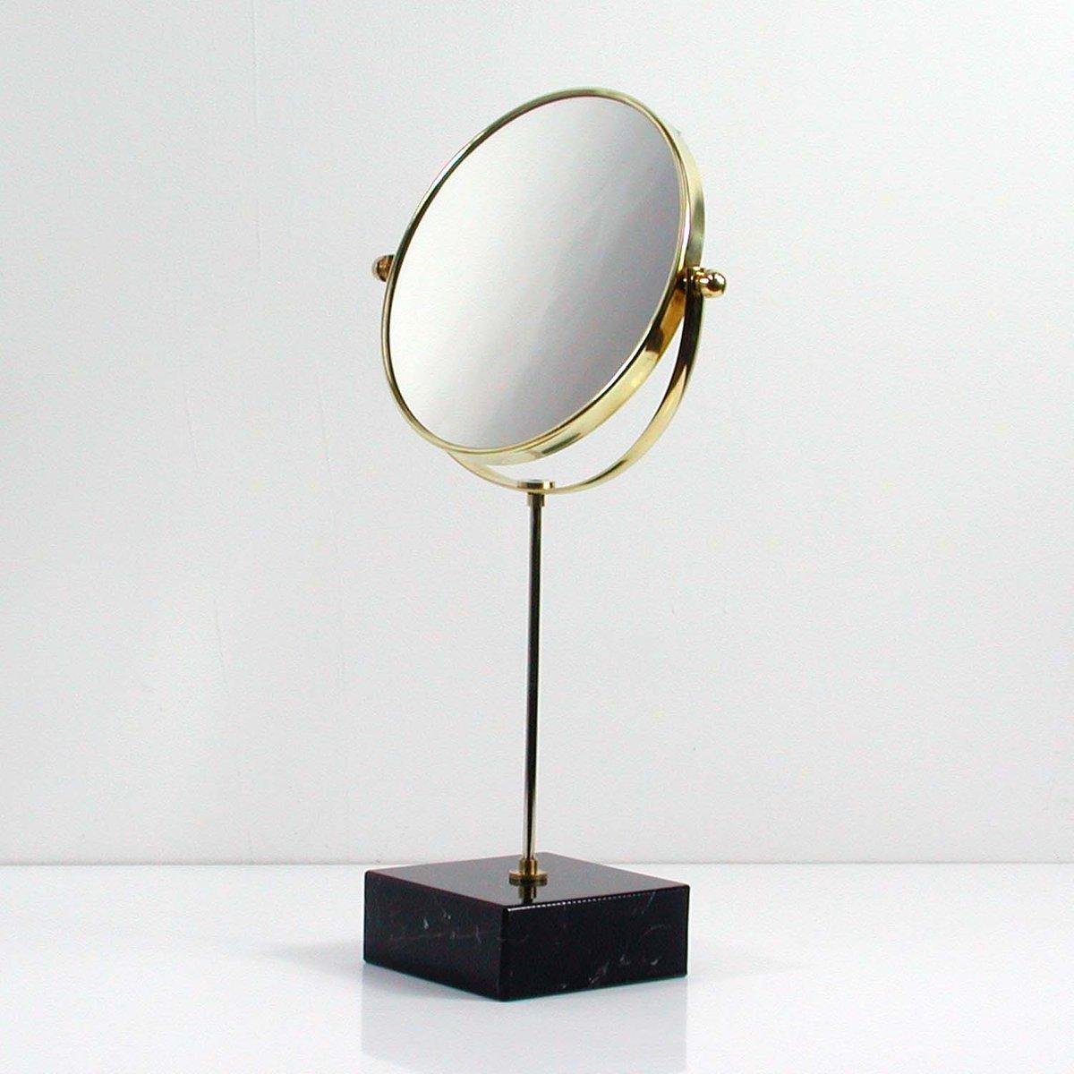 Specchio da tavolo mid century in marmo ed ottone italia anni 39 50 in vendita su pamono - Specchio da tavolo ...