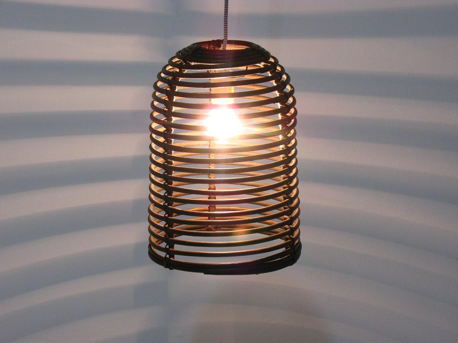Vintage Rattan Deckenlampe 1970er Bei Pamono Kaufen