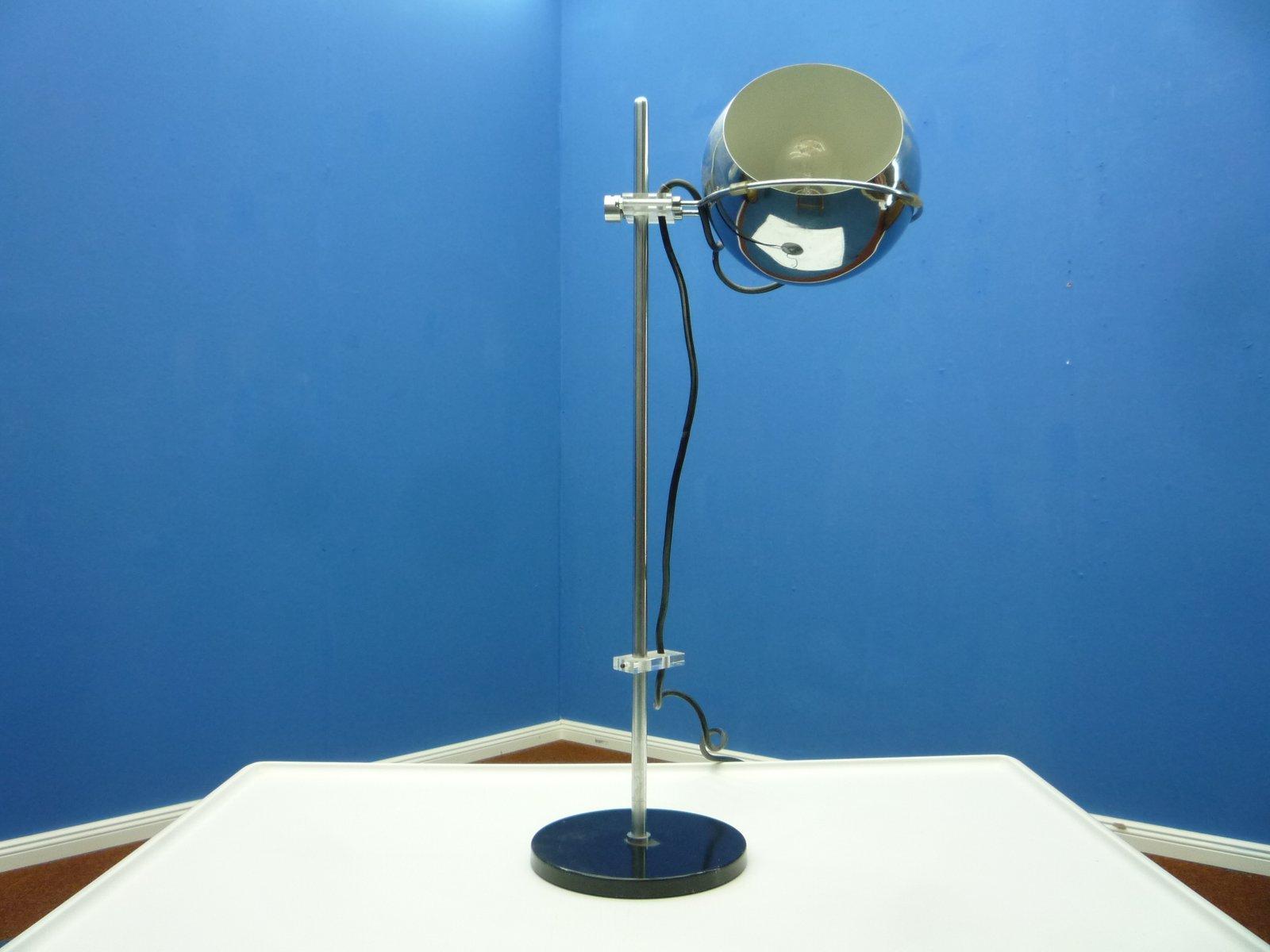 lampe de bureau d 39 architecte en chrome et plexiglas 1960s en vente sur pamono. Black Bedroom Furniture Sets. Home Design Ideas