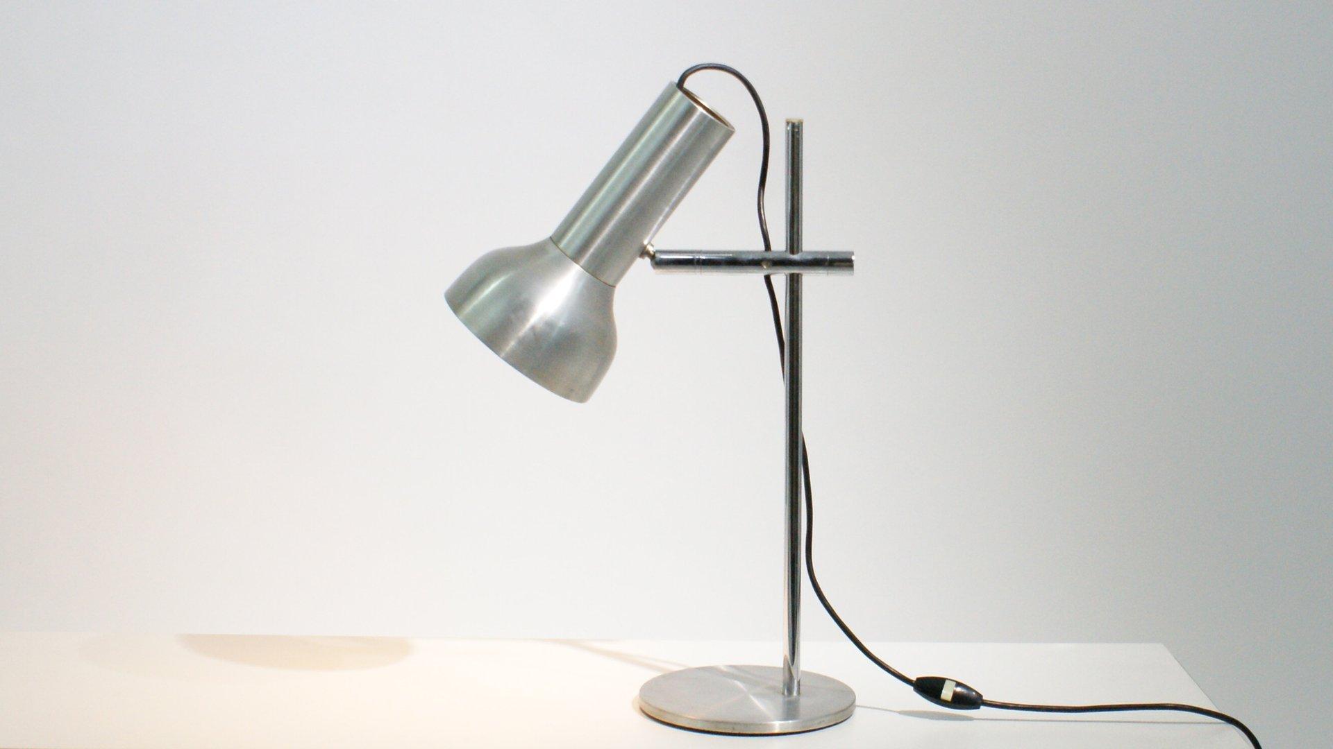 Lampe de bureau ajustable industrielle en aluminium press 1950s en vente sur pamono - Lampe bureau industrielle ...