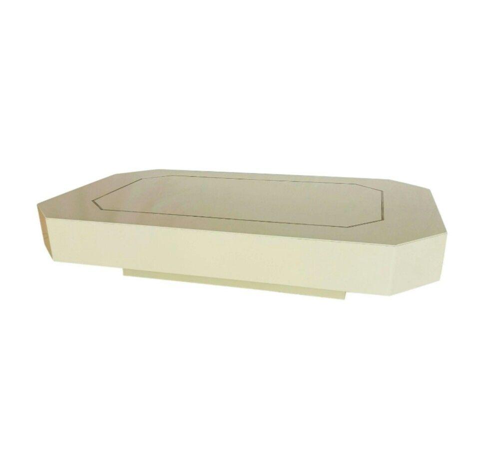 Weiß Lackierter Couchtisch von Jean Claude Mahey, 1970er