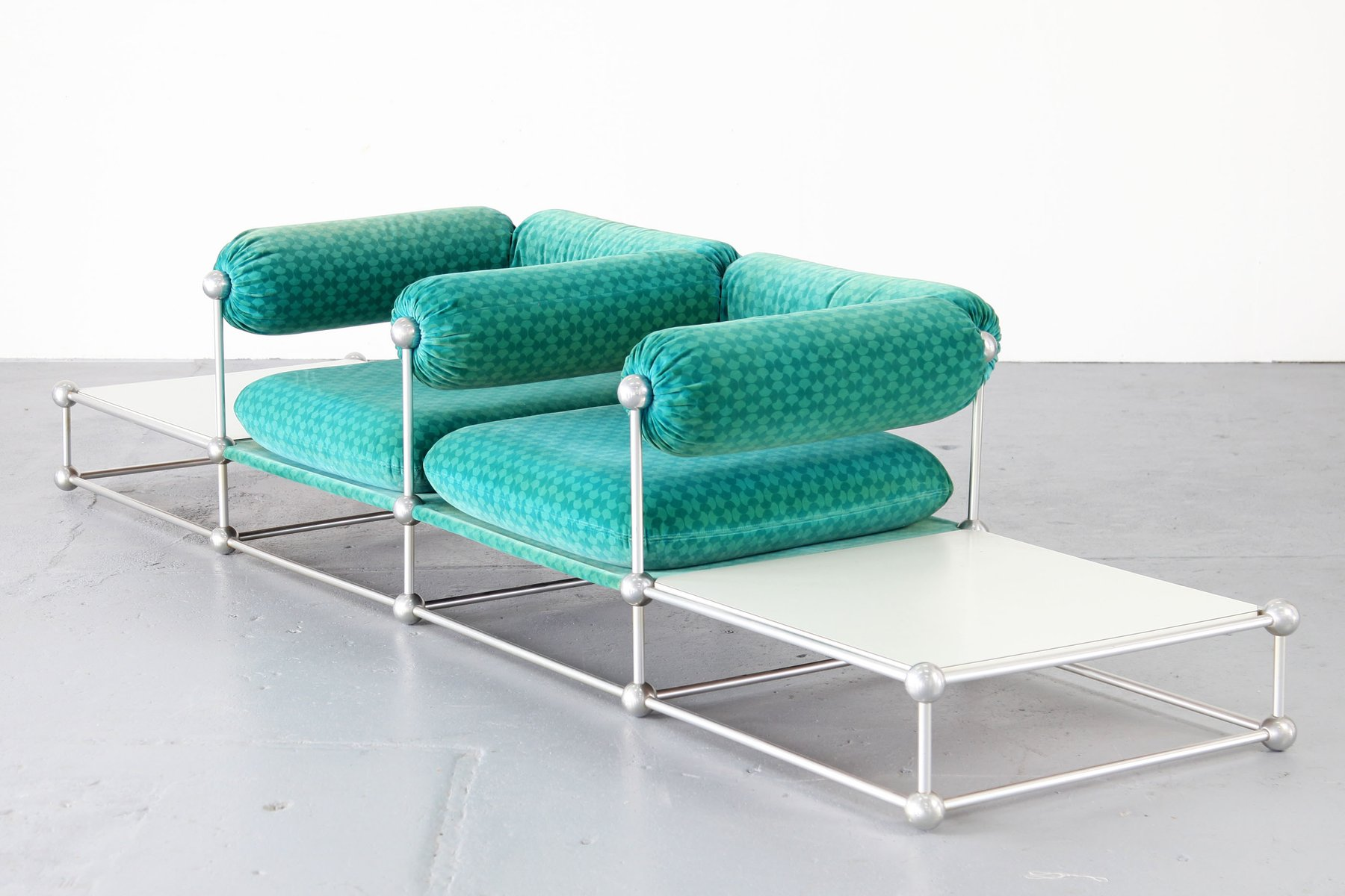 Modulares Mid-Century S420 Zwei-Sitzer Sofa mit Tischen von Verner Pan...