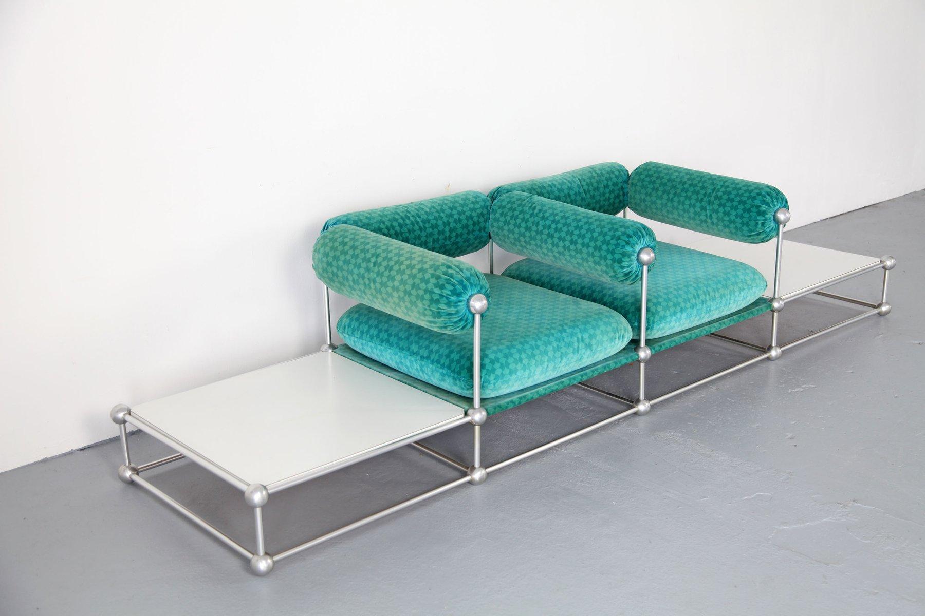 modulares mid century s420 zwei sitzer sofa mit tischen von verner panton f r thonet bei pamono. Black Bedroom Furniture Sets. Home Design Ideas