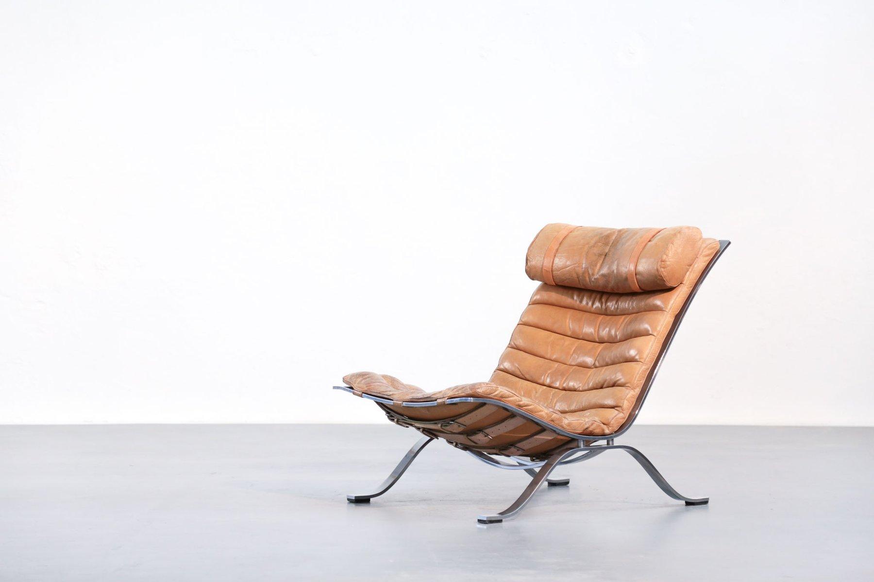 Ari Leder Sessel von Arne Norell, 1960er