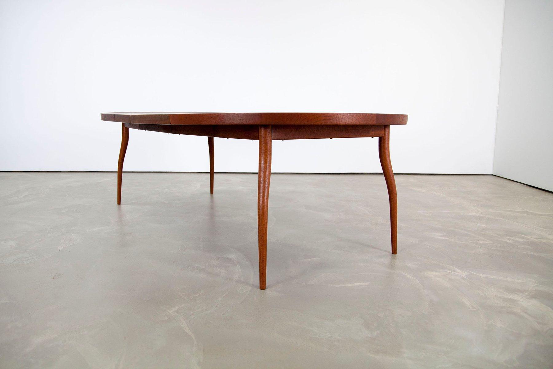 table de salle manger nv56 en teck par finn juhl pour nils vodder 1956 en vente sur pamono. Black Bedroom Furniture Sets. Home Design Ideas