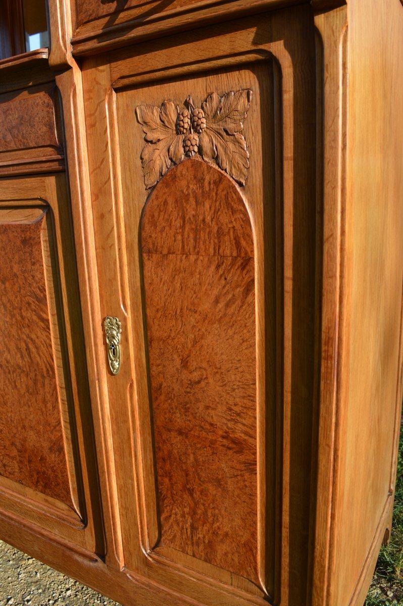 buffet art nouveau in due parti anni 39 10 in vendita su pamono. Black Bedroom Furniture Sets. Home Design Ideas