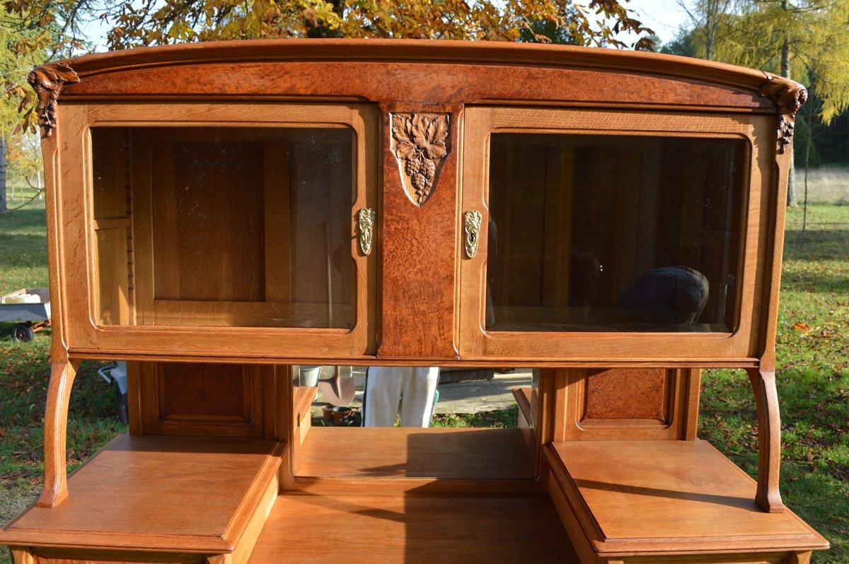 buffet art nouveau en 2 partie 1910s en vente sur pamono. Black Bedroom Furniture Sets. Home Design Ideas