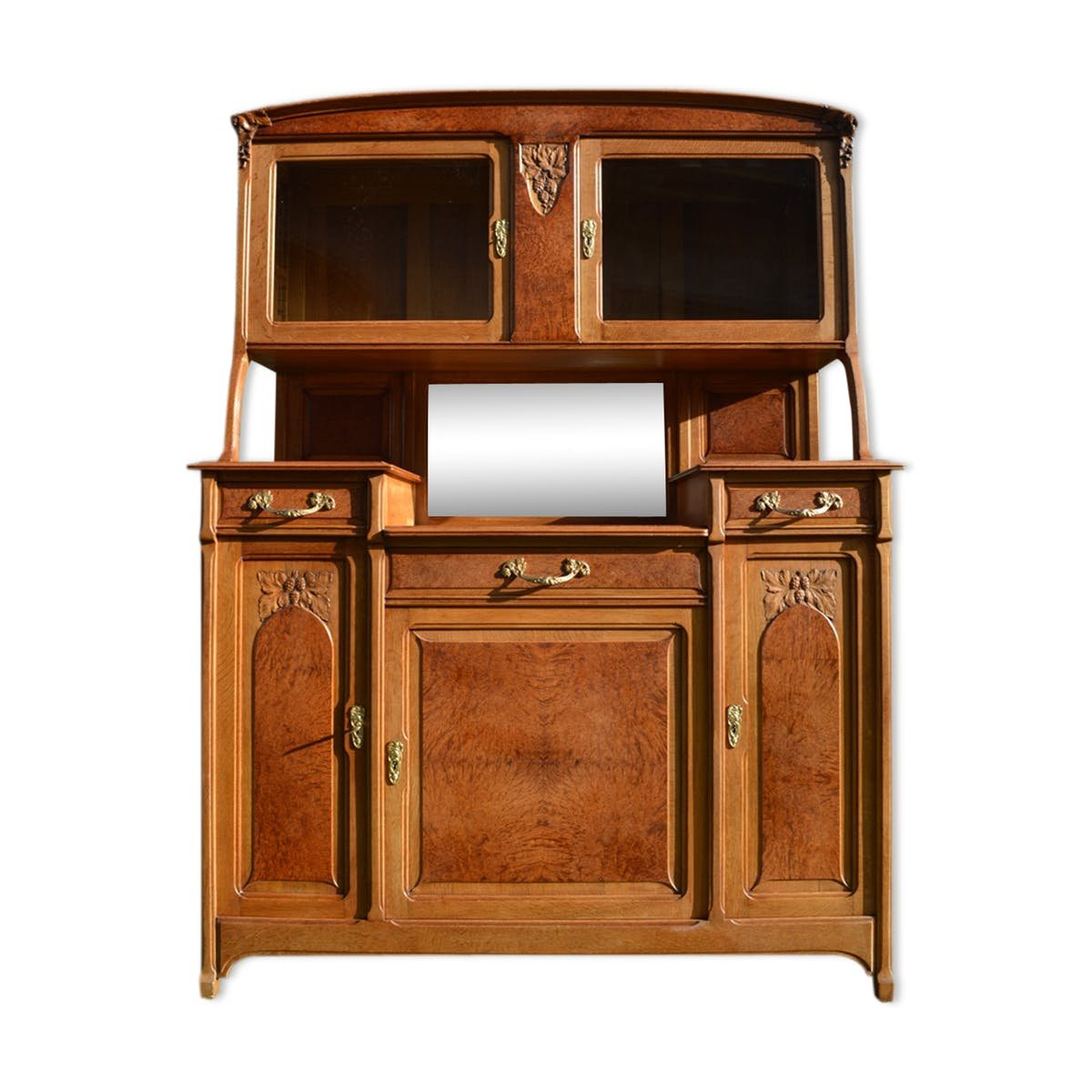art nouveau 2 part buffet 1910s for sale at pamono. Black Bedroom Furniture Sets. Home Design Ideas