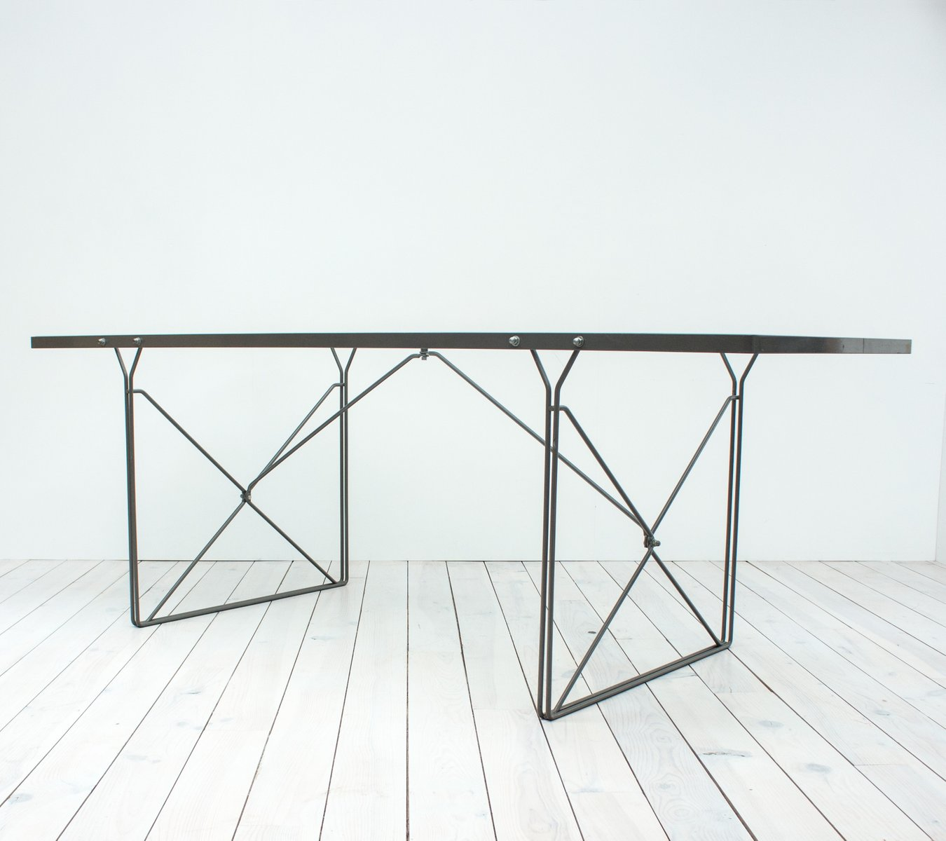 table de salle manger moment en verre par niels gammelgaard pour ikea 1987 en vente sur pamono. Black Bedroom Furniture Sets. Home Design Ideas
