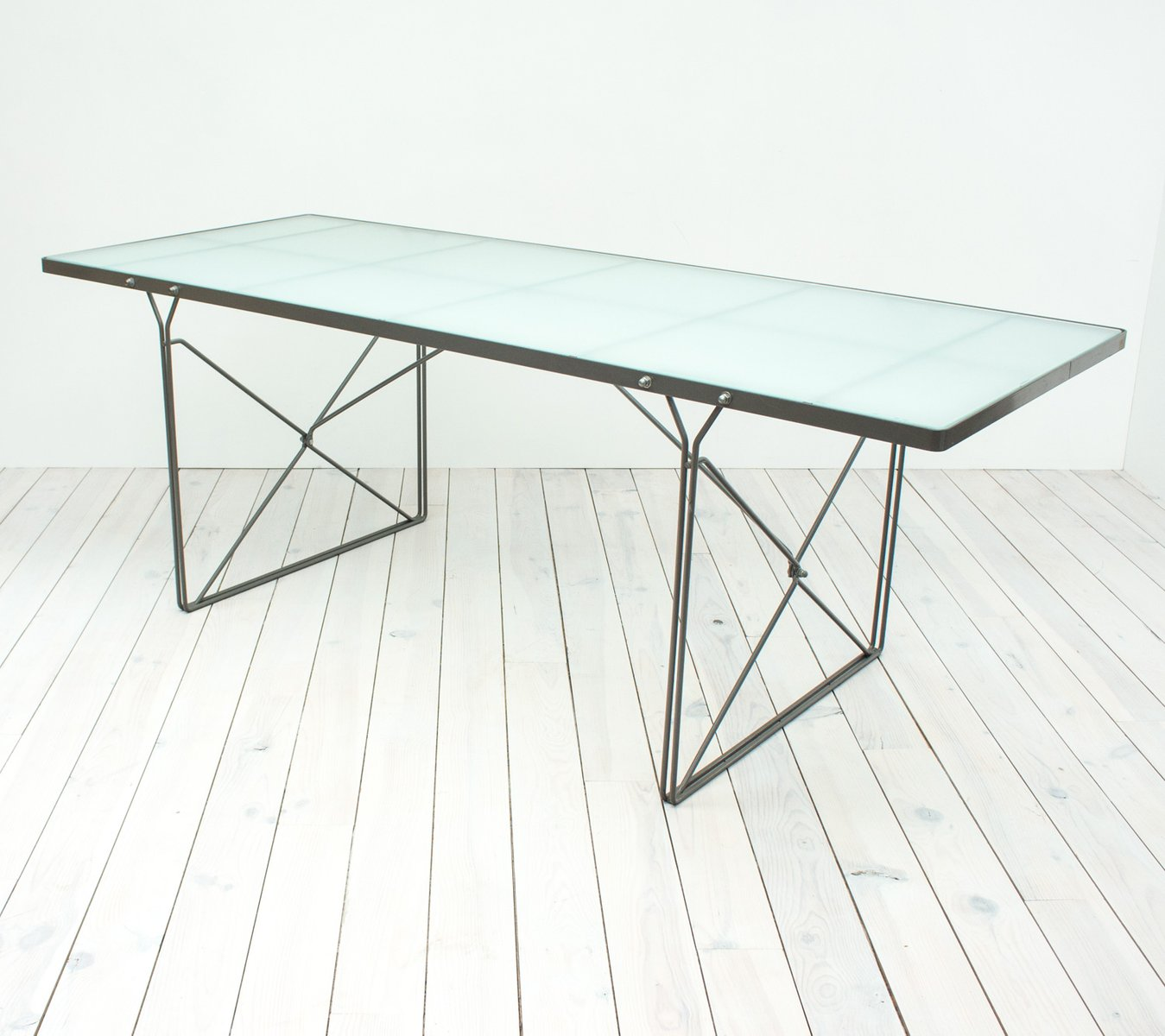 Moment Glass Dining Table By Niels Gammelgaard For Ikea, 1987