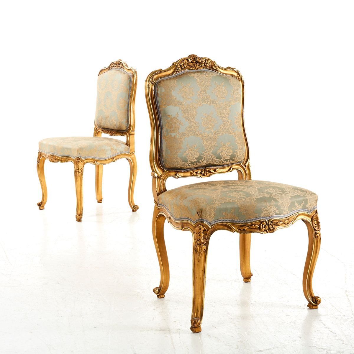 Price per set - Antique Louis XV Style Chairs, Set Of 2 For Sale At Pamono