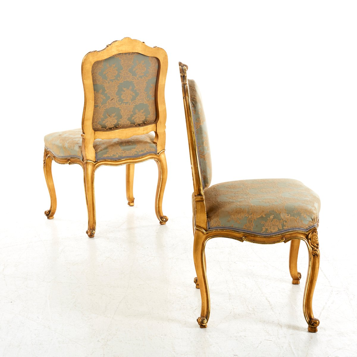 Antique Louis Xv Style Chairs Set Of 2 6 429 00 Per