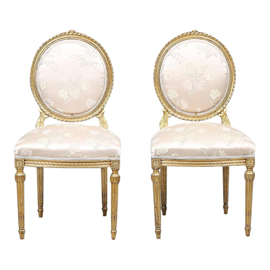 Exceptionnel Antique Louis XVI Style Chairs, Set Of 2