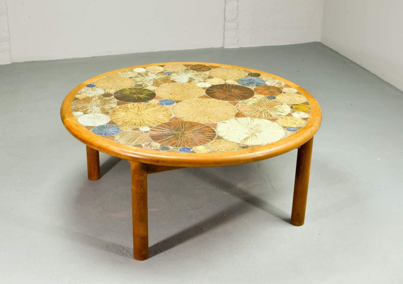 couchtisch mit kunst keramik fliesen von tue poulsen f r haslev 1960er bei pamono kaufen. Black Bedroom Furniture Sets. Home Design Ideas