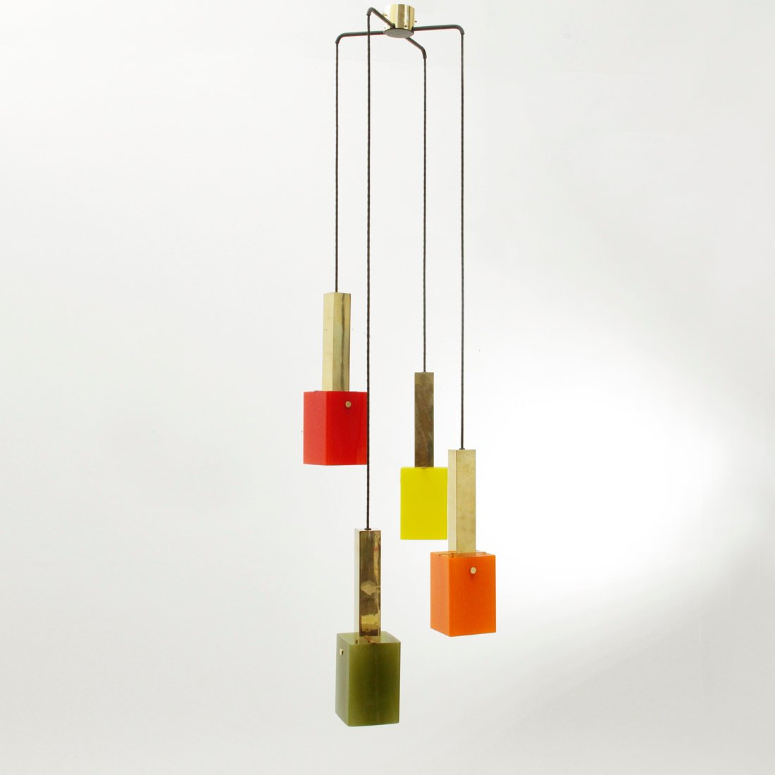 kronleuchter aus messing glas von stilnovo 1950er bei pamono kaufen. Black Bedroom Furniture Sets. Home Design Ideas