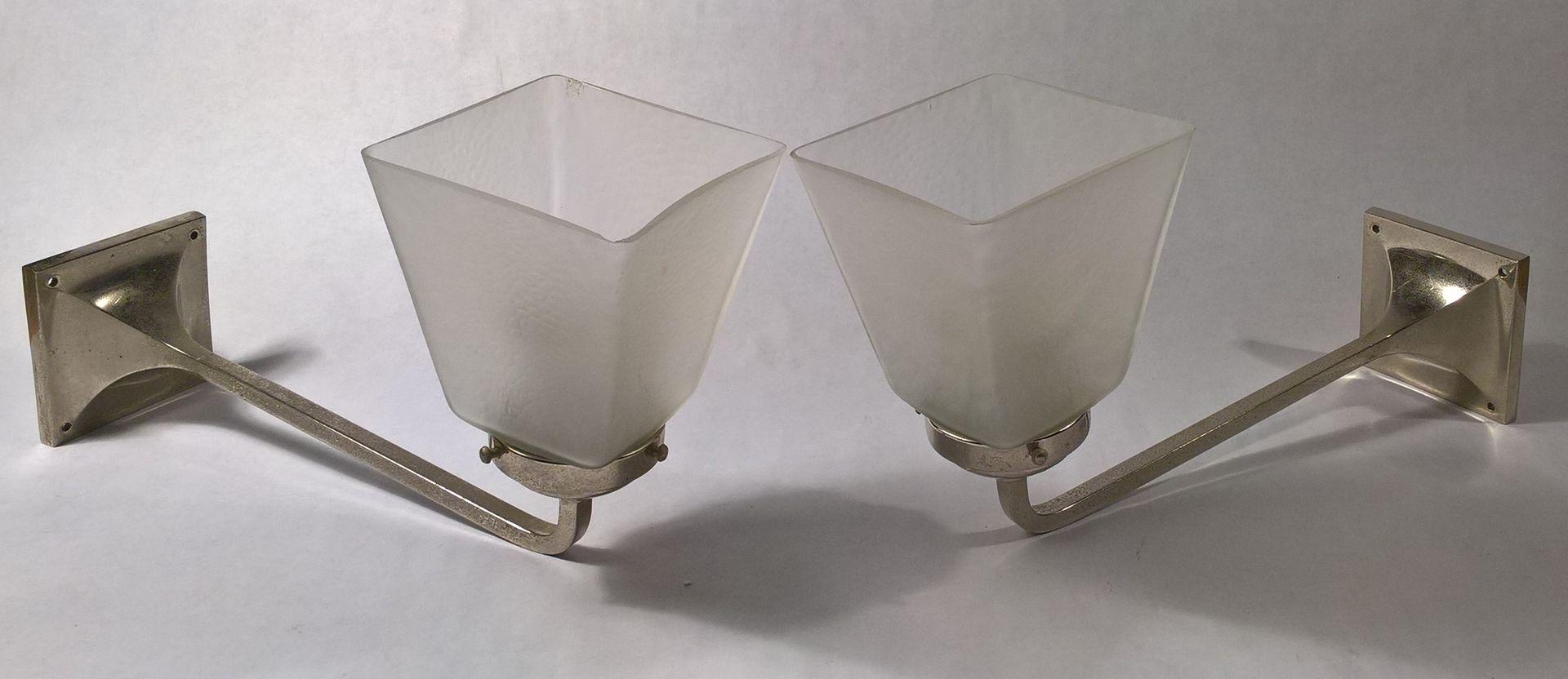 vernickelte moderne wandleuchten 1920er 2er set bei pamono kaufen. Black Bedroom Furniture Sets. Home Design Ideas