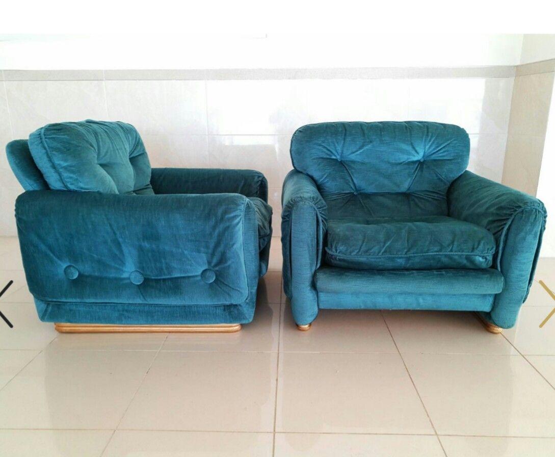 Französische Sessel, 1970er, 2er Set