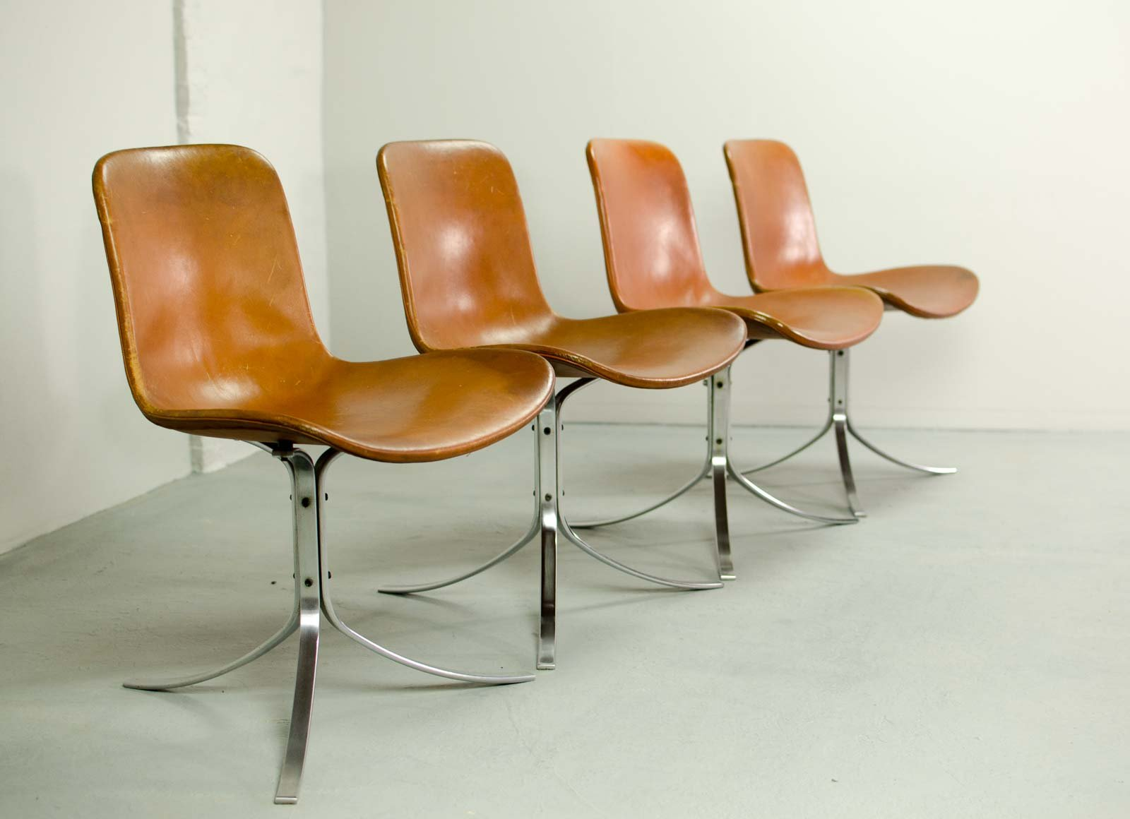 erstauflage pk9 esszimmer st hle von poul kjaerholm f r e kold christensen 1960er 4er set bei. Black Bedroom Furniture Sets. Home Design Ideas