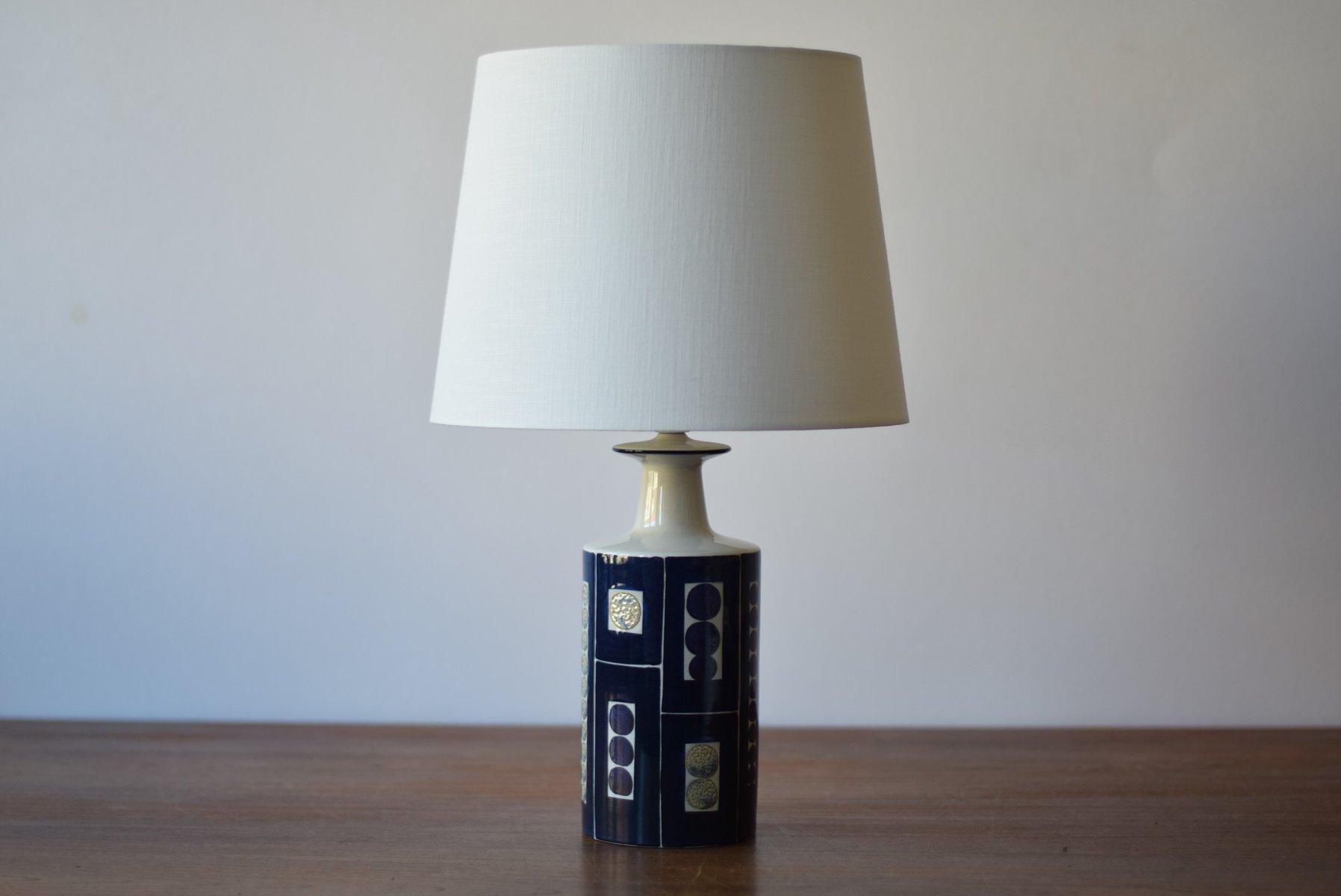Dänische Mid-Century Tischlampe von Inge-Lise Koefoed für Aluminia, 19...