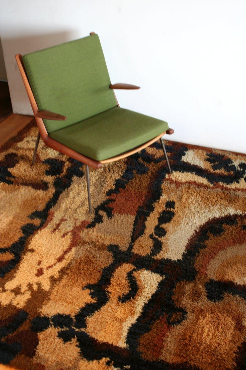 gro er abstrakter teppich 1960er bei pamono kaufen. Black Bedroom Furniture Sets. Home Design Ideas