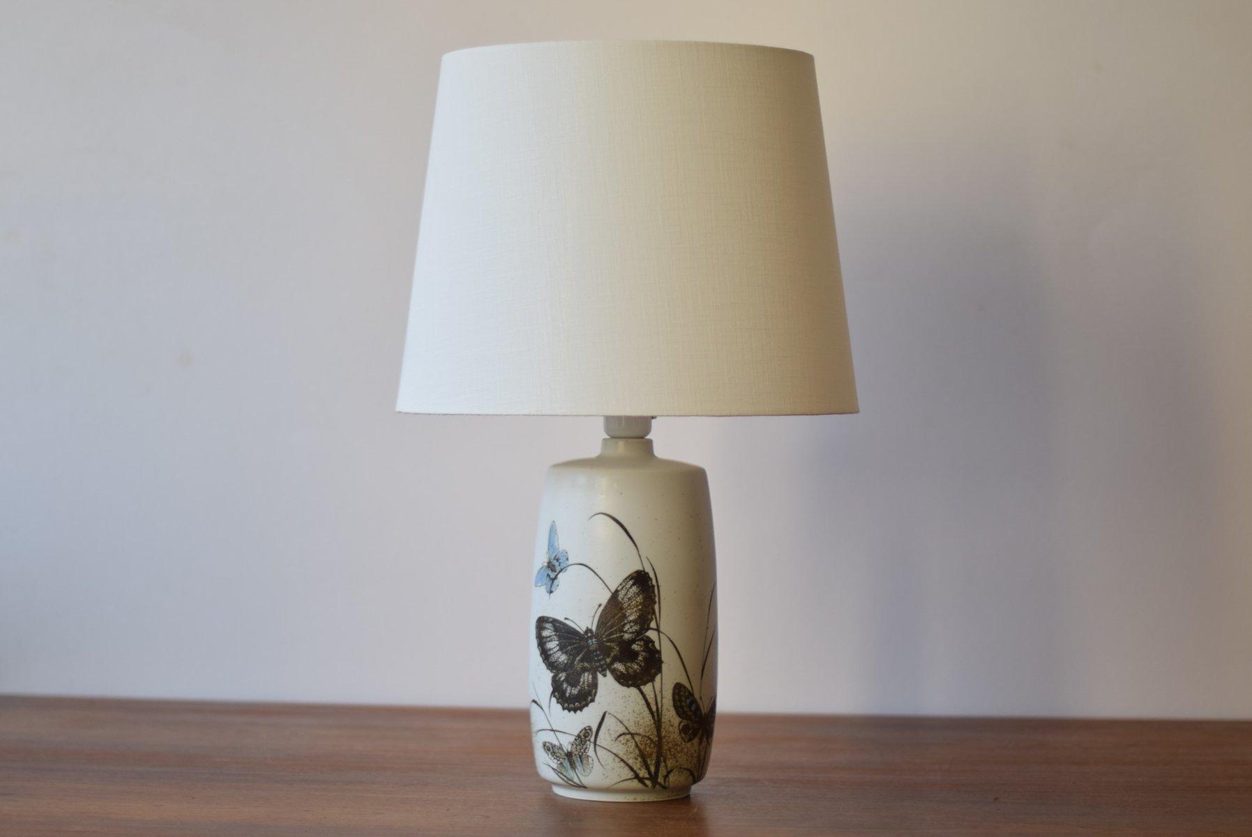 Dänischer Mid-Century Tischlampe mit Schmetterling Motiv von Nils Thor...