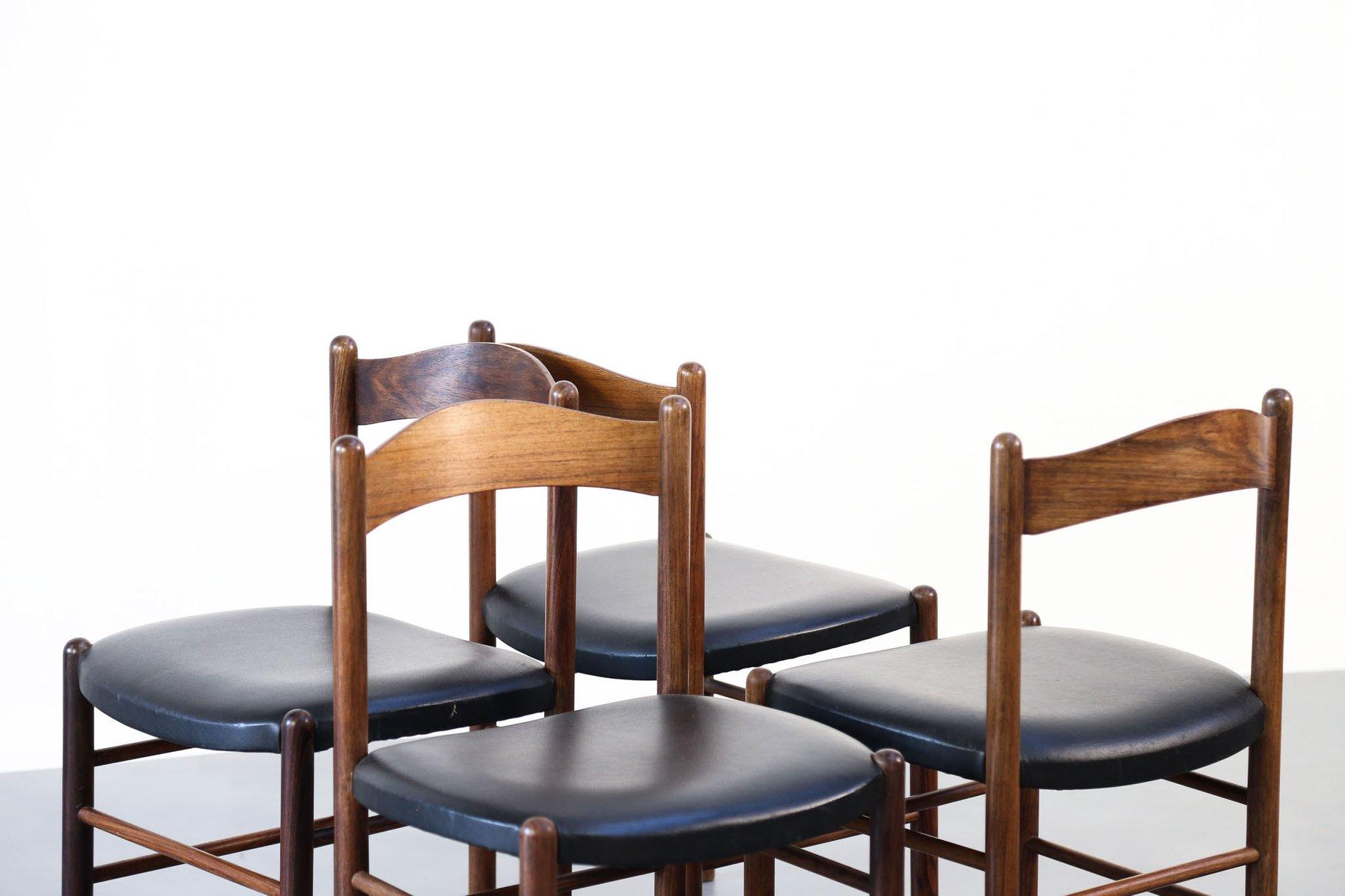 skandinavische st hle aus teak 1960er 4er set bei pamono kaufen. Black Bedroom Furniture Sets. Home Design Ideas