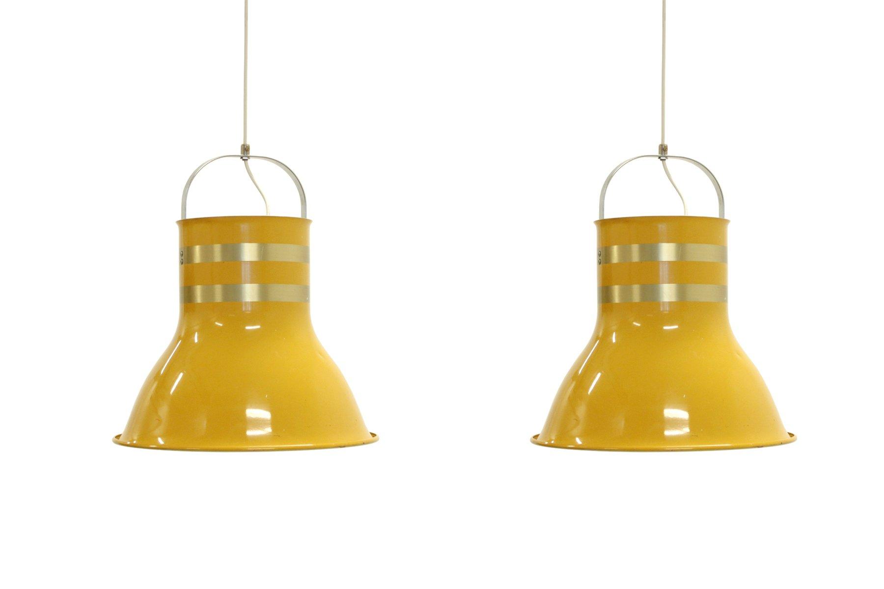 Große Schwedische Deckenlampen von Per Sundstedt für Kosta, 1970er, 2e...