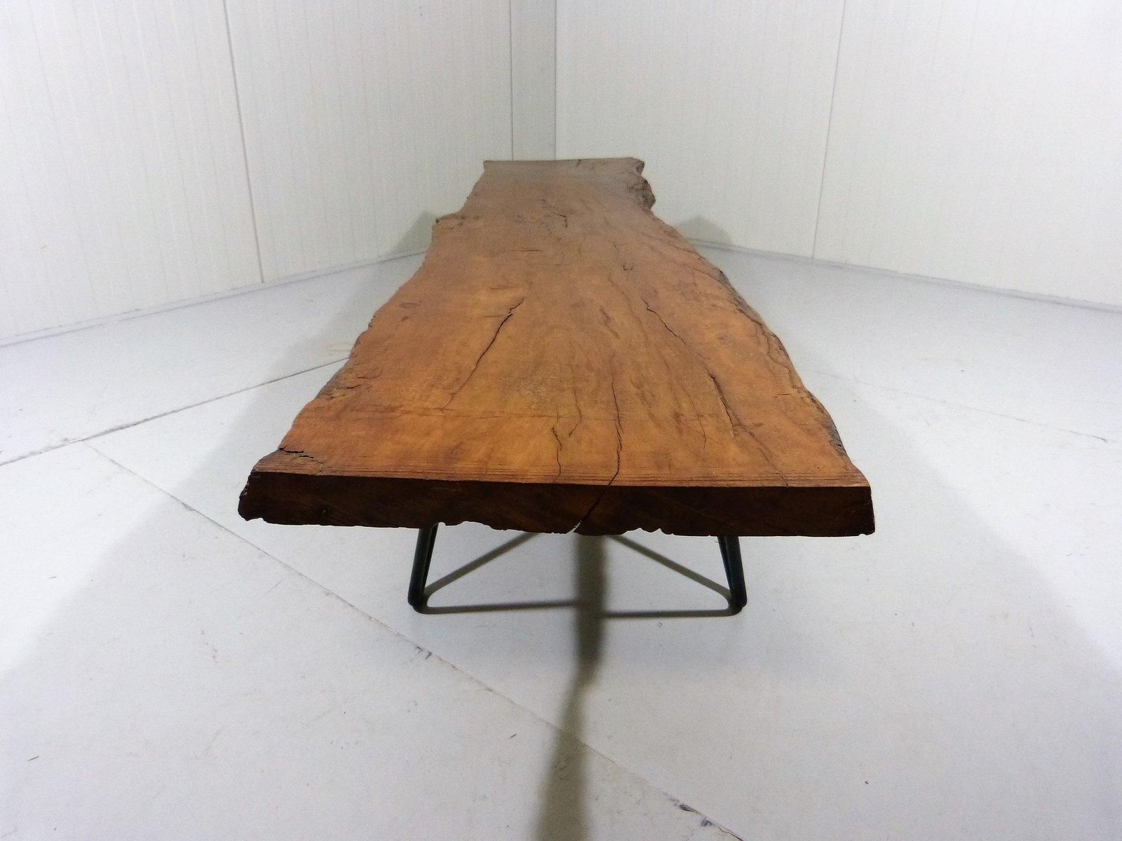 grande table basse tronc d arbre recycl vintage en vente. Black Bedroom Furniture Sets. Home Design Ideas