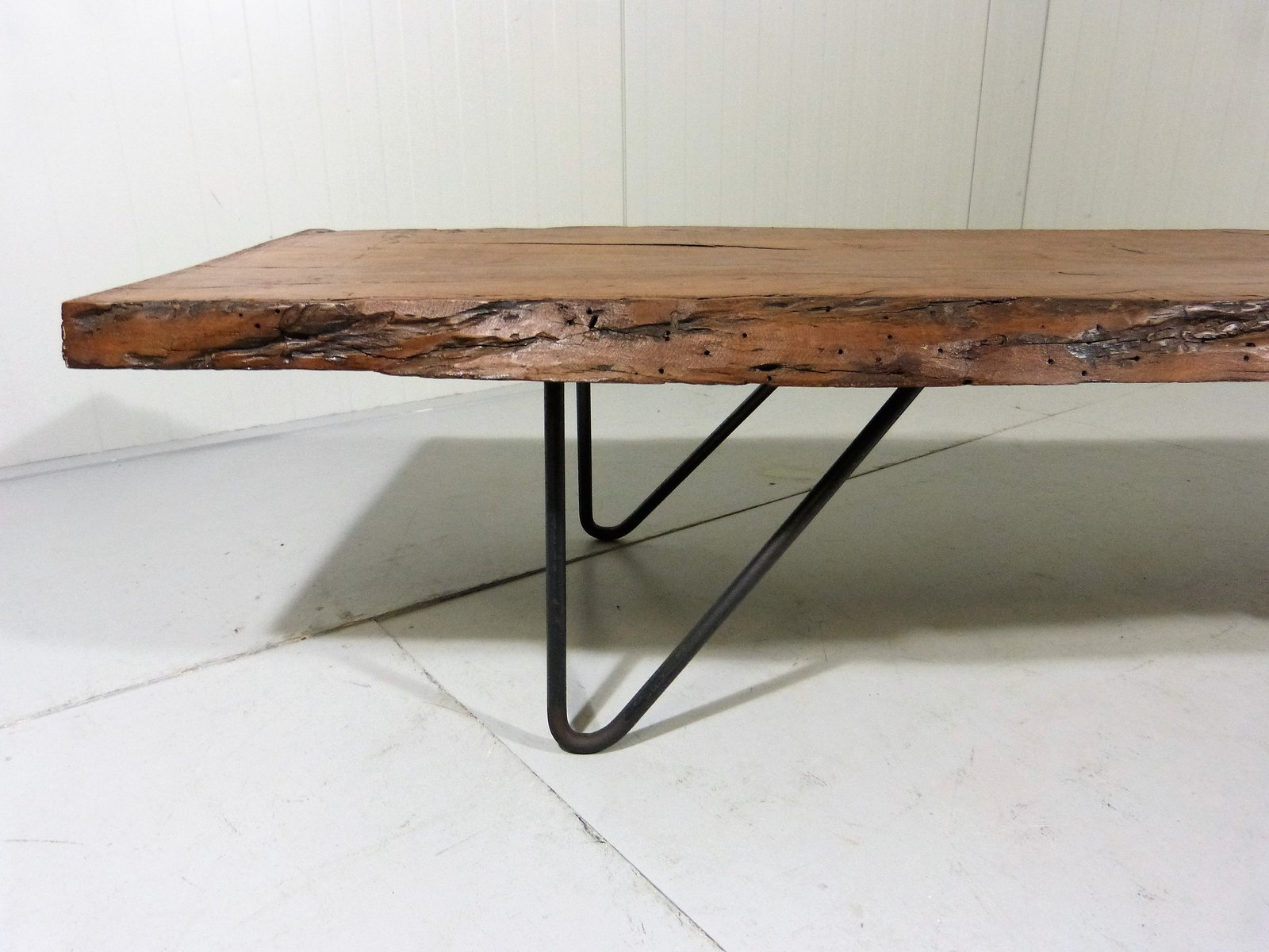 grande table basse tronc d arbre recycl vintage en vente sur pamono. Black Bedroom Furniture Sets. Home Design Ideas