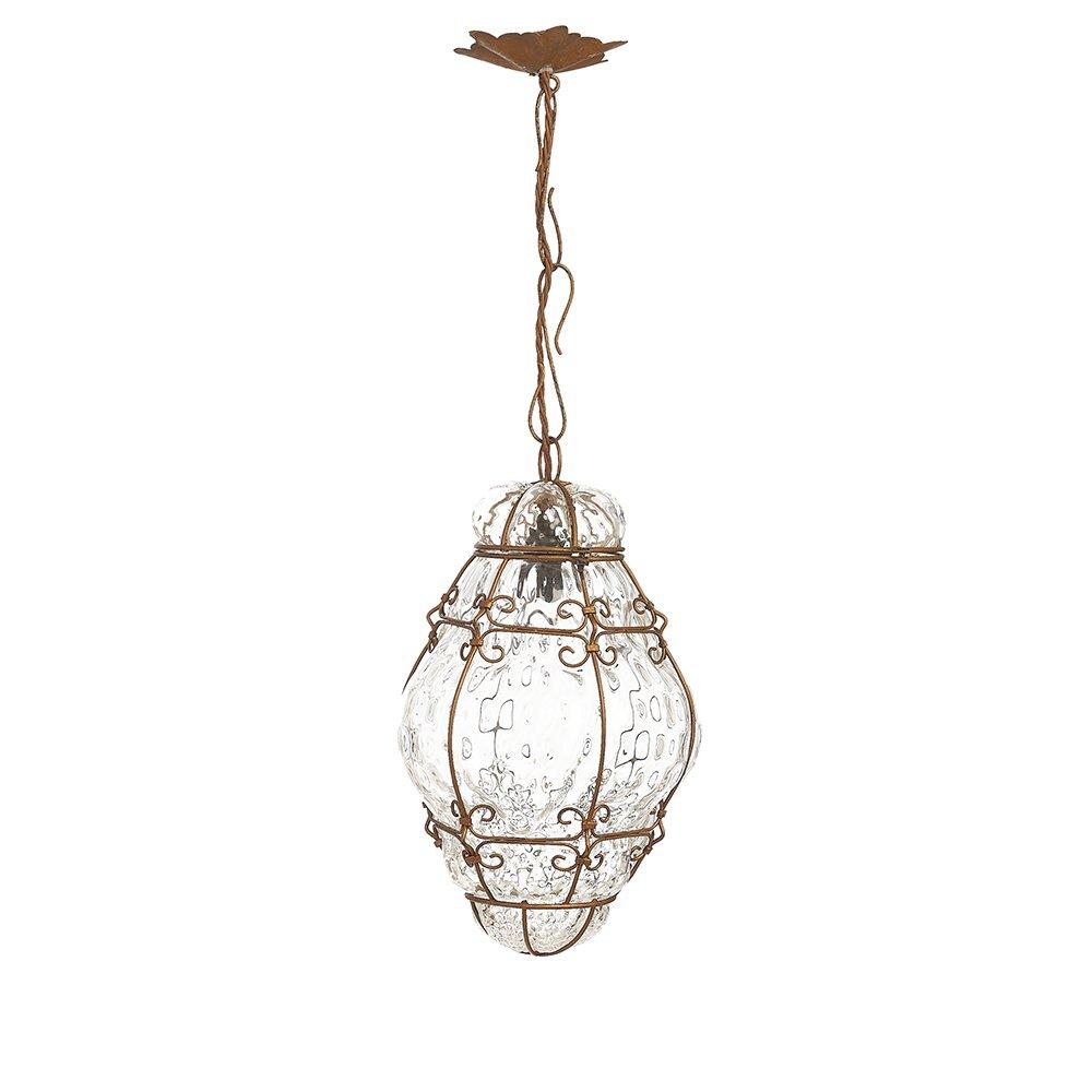 Deckenlampe aus Murano Glas, 1940er