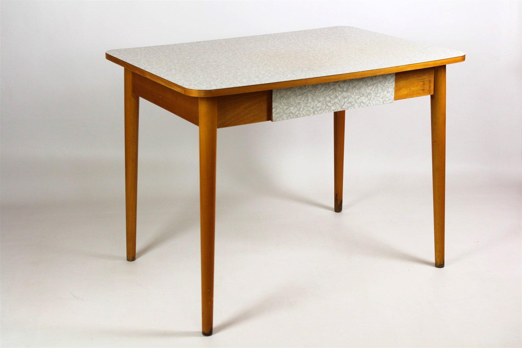 Tavolo da cucina in legno di formica di jitona anni 39 60 for Tavolo cucina anni 60