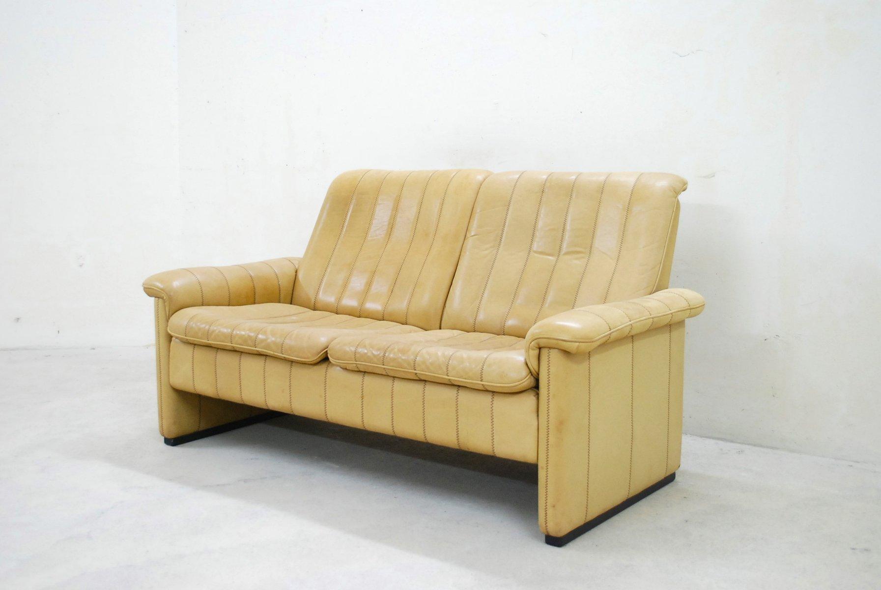 schweizer leder sofa von de sede 1980er bei pamono kaufen. Black Bedroom Furniture Sets. Home Design Ideas