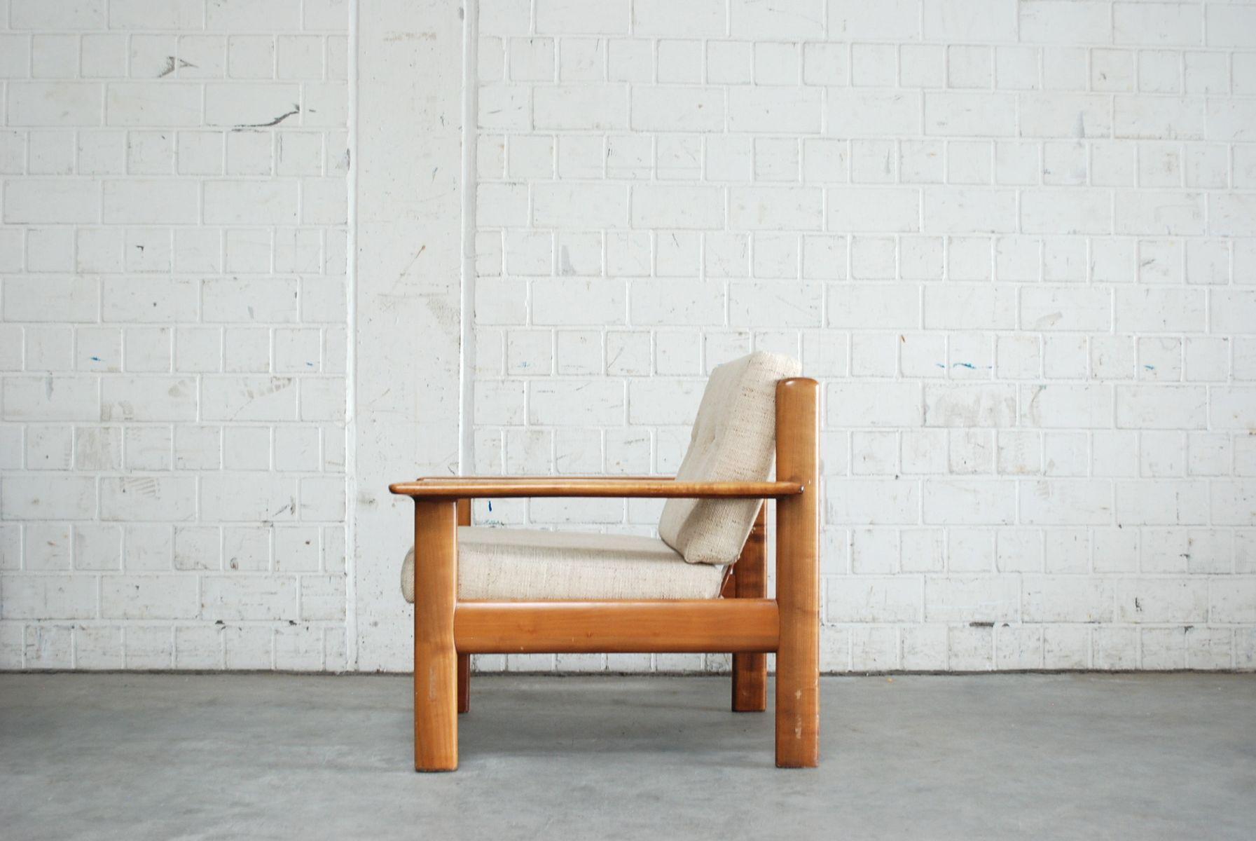 vintage sessel aus kirschholz von knoll bei pamono kaufen. Black Bedroom Furniture Sets. Home Design Ideas