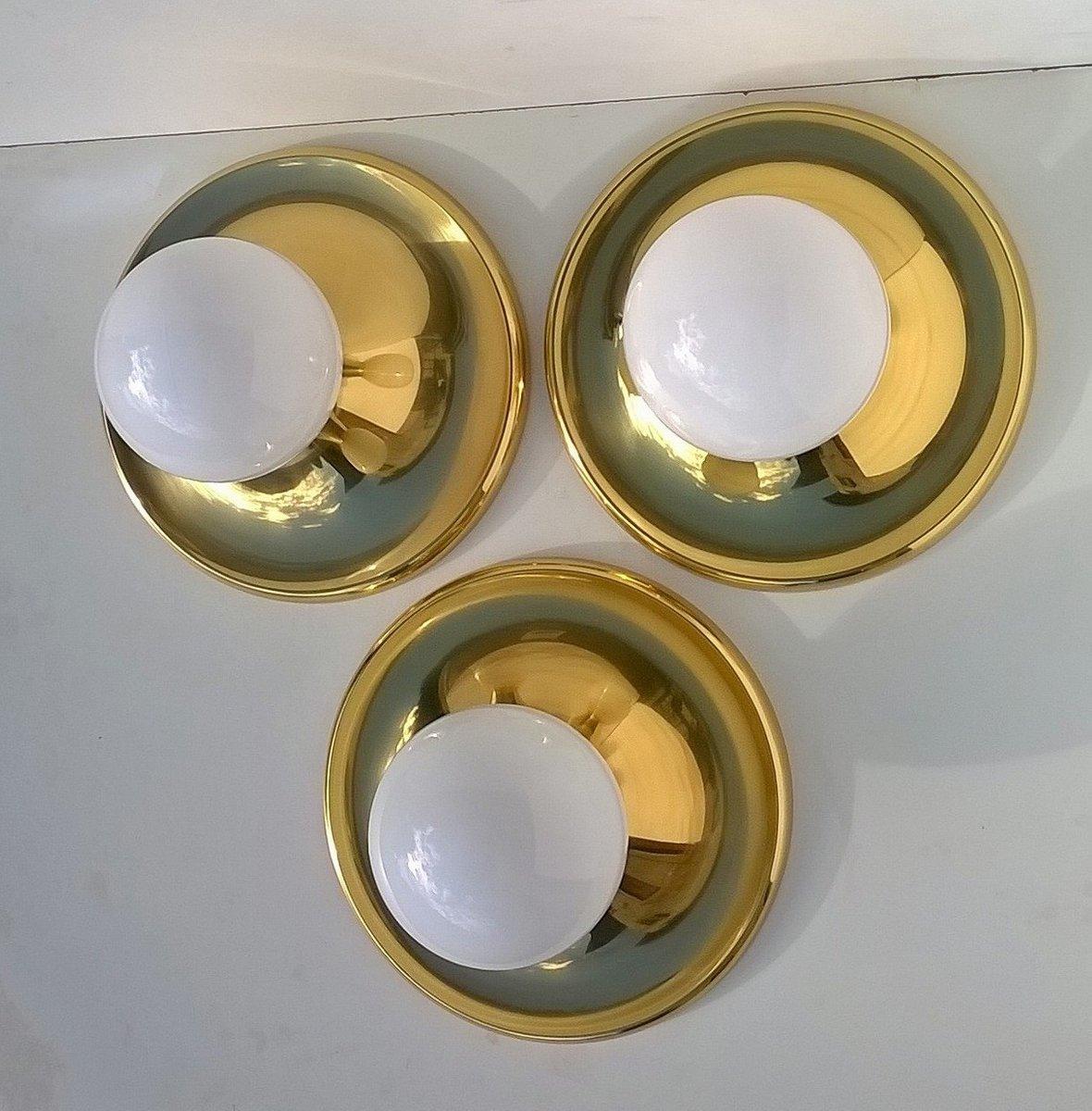 Balum Wandlampen von Achille Castiglioni für Arteluce, 1960er, 3er Set