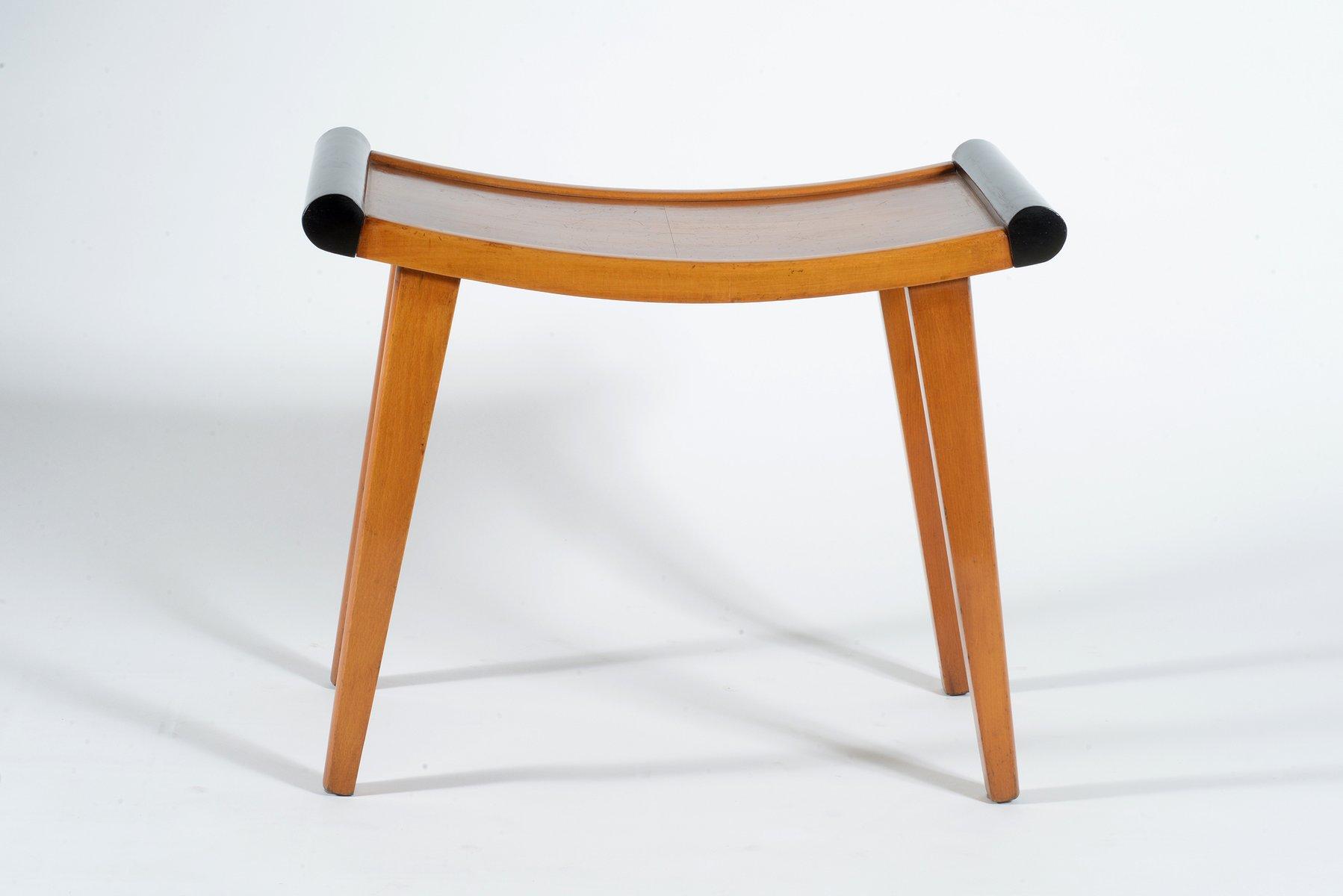 Sgabelli in stile art déco in legno di noce anni 30 set di 2 in