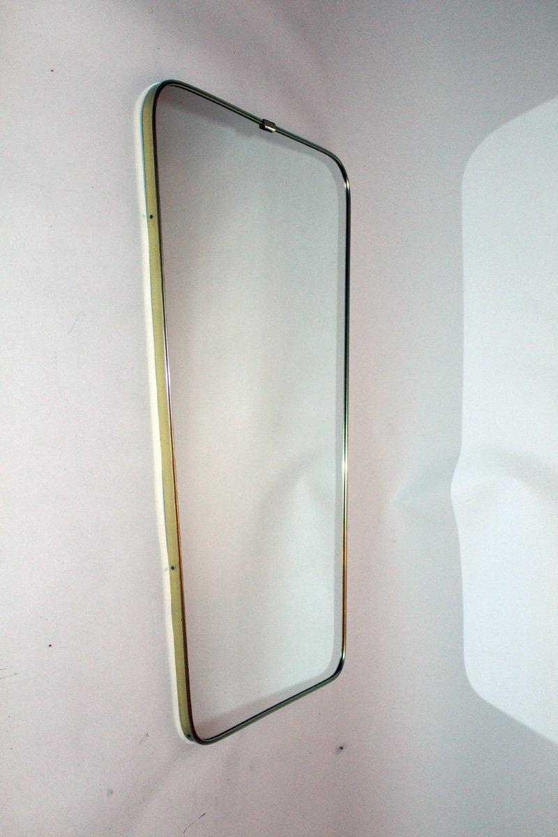 spiegel mit rahmen aus messing von lachmayr 1950er bei pamono kaufen. Black Bedroom Furniture Sets. Home Design Ideas