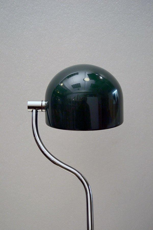 lampe de bureau verte chrome avec socle rotatif 360 italie 1970s en vente sur pamono. Black Bedroom Furniture Sets. Home Design Ideas