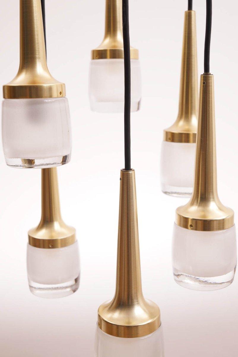kaskaden lampe mit 6 leuchten von staff leuchten 1960er bei pamono kaufen. Black Bedroom Furniture Sets. Home Design Ideas