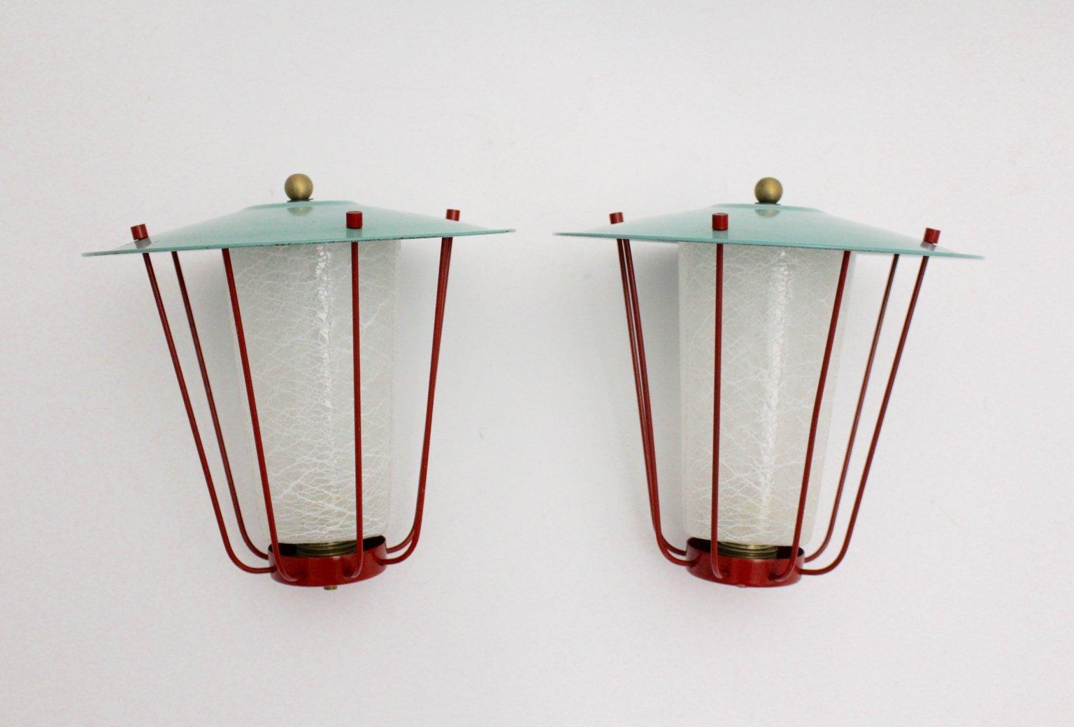 Laternen von J.T.Kalmar für Kalmar, 1960er, 2er Set