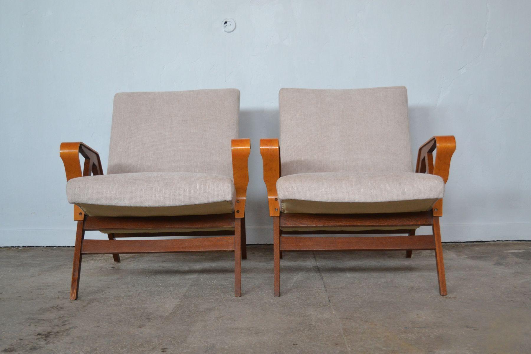 Sessel von Tatra Nabytok, 1960er, 2er Set