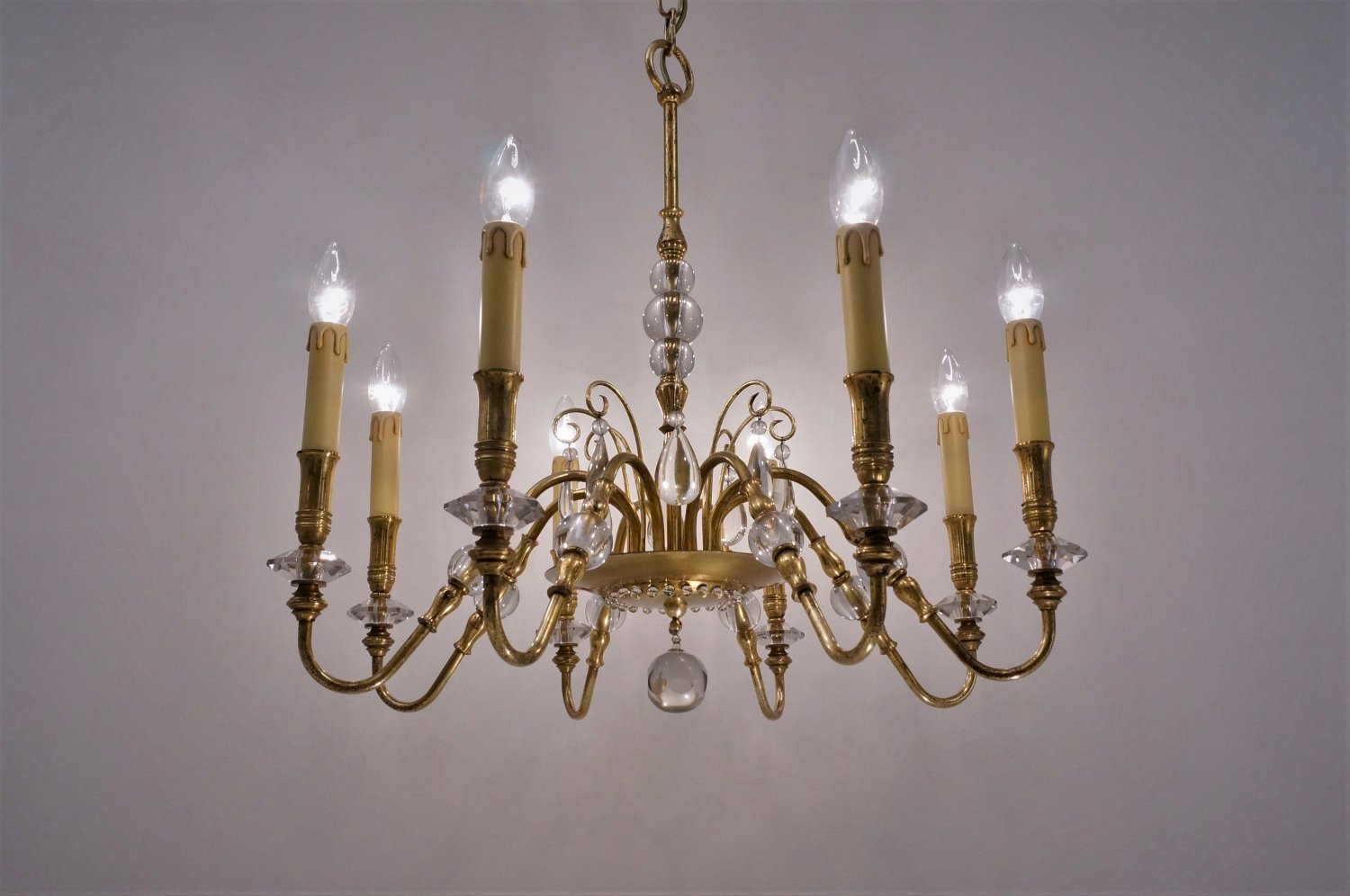 French chandelier 1940s for sale at pamono french chandelier 1940s aloadofball Image collections