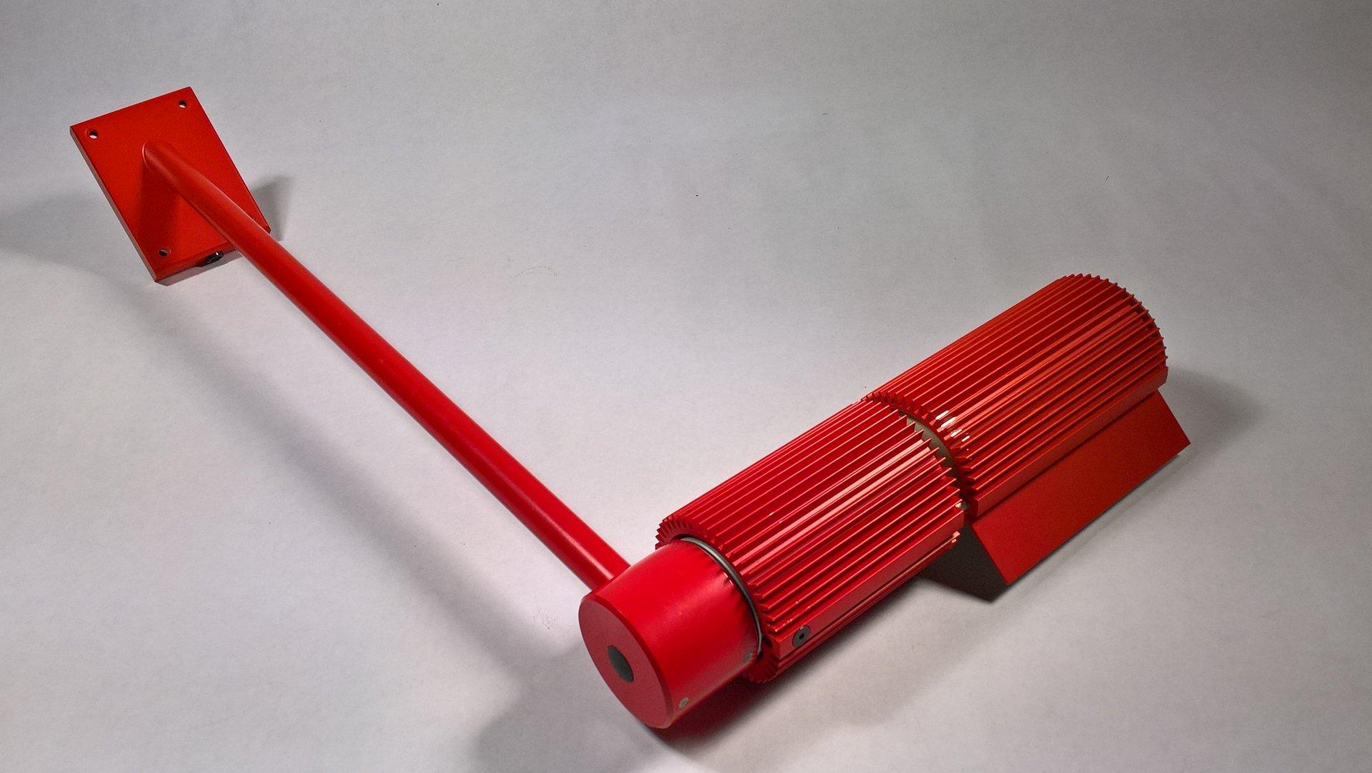 Rote Wandleuchte von SLZ Swisslamps International, 1960er